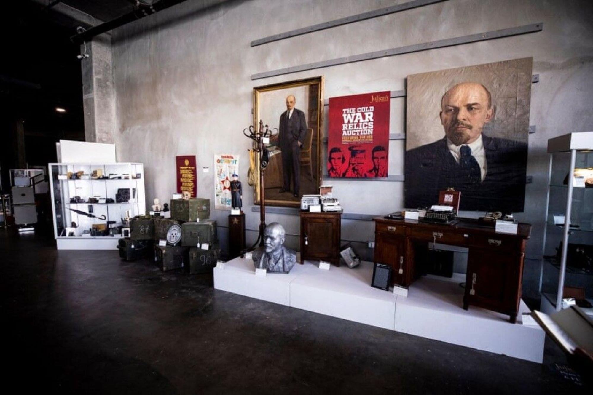 Soviet relics from the Cold War went under the hammer at auction in the United States