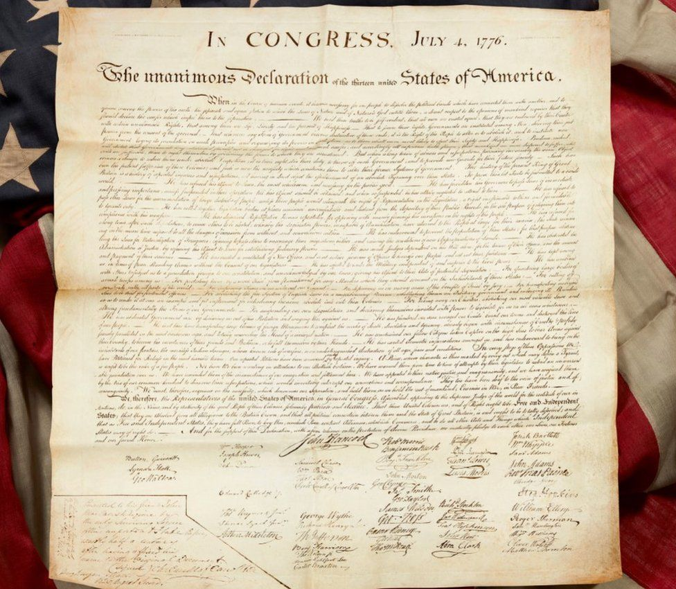 United States Declaration of Independence still rejoices